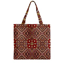 Seamless Pattern Based On Turkish Carpet Pattern Zipper Grocery Tote Bag by Nexatart