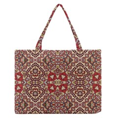 Seamless Pattern Based On Turkish Carpet Pattern Medium Zipper Tote Bag by Nexatart