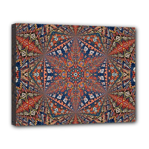 Armenian Carpet In Kaleidoscope Canvas 14  X 11  by Nexatart