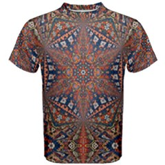 Armenian Carpet In Kaleidoscope Men s Cotton Tee