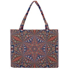 Armenian Carpet In Kaleidoscope Mini Tote Bag by Nexatart