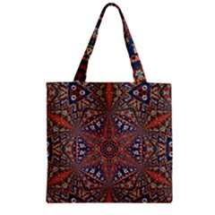Armenian Carpet In Kaleidoscope Zipper Grocery Tote Bag by Nexatart
