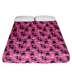 Cute Cats I Fitted Sheet (queen Size)