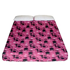 Cute Cats I Fitted Sheet (king Size)