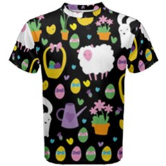 Cute Easter Pattern Men s Cotton Tee by Valentinaart
