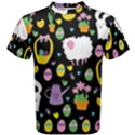 Cute Easter pattern Men s Cotton Tee View1