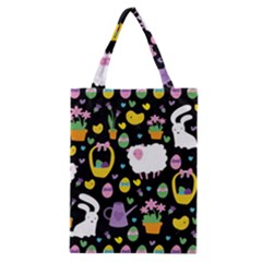 Cute Easter Pattern Classic Tote Bag by Valentinaart