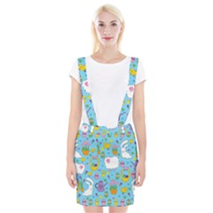 Cute Easter Pattern Suspender Skirt