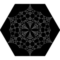 Drawing Of A White Spindle On Black Mini Folding Umbrellas