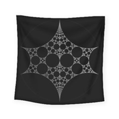Drawing Of A White Spindle On Black Square Tapestry (small) by Nexatart