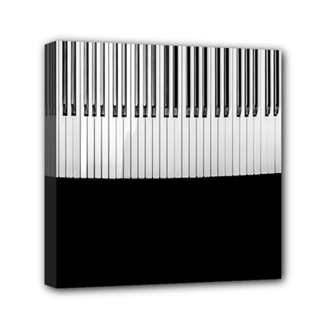 Piano Keys On The Black Background Mini Canvas 6  X 6
