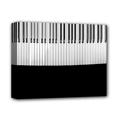 Piano Keys On The Black Background Deluxe Canvas 14  X 11