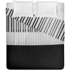 Piano Keys On The Black Background Duvet Cover Double Side (california King Size)