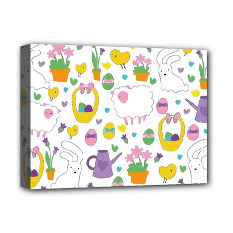 Cute Easter Pattern Deluxe Canvas 16  X 12