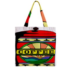 Coffee Tin A Classic Illustration Grocery Tote Bag by Nexatart