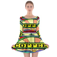 Coffee Tin A Classic Illustration Long Sleeve Skater Dress by Nexatart