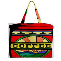 Coffee Tin A Classic Illustration Medium Zipper Tote Bag by Nexatart