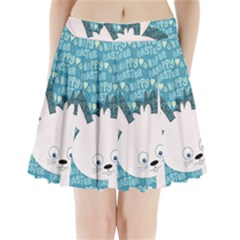 Easter Bunny  Pleated Mini Skirt by Valentinaart