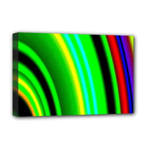 Multi Colorful Radiant Background Deluxe Canvas 18  X 12   by Nexatart