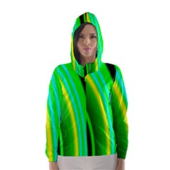 Multi Colorful Radiant Background Hooded Wind Breaker (women) by Nexatart