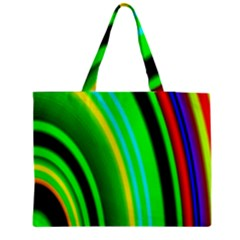 Multi Colorful Radiant Background Medium Zipper Tote Bag by Nexatart