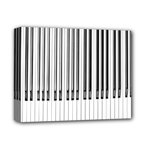Abstract Piano Keys Background Deluxe Canvas 14  X 11
