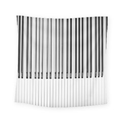 Abstract Piano Keys Background Square Tapestry (small) by Nexatart