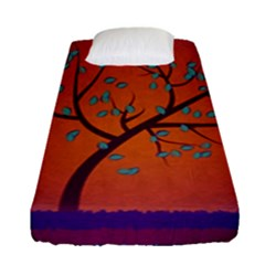 Beautiful Tree Background Fitted Sheet (single Size)