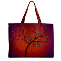 Beautiful Tree Background Zipper Mini Tote Bag by Nexatart