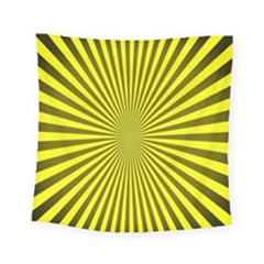 Sunburst Pattern Radial Background Square Tapestry (small) by Nexatart