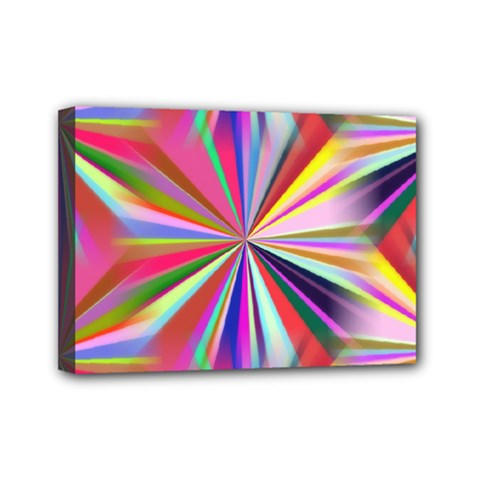Star A Completely Seamless Tile Able Design Mini Canvas 7  X 5  by Nexatart