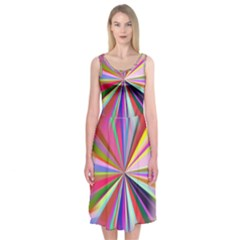 Star A Completely Seamless Tile Able Design Midi Sleeveless Dress