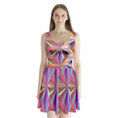 Star A Completely Seamless Tile Able Design Split Back Mini Dress