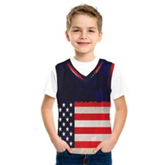 Grunge American Flag Background Kids  Sportswear