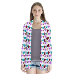 A Creative Colorful Background With Hearts Cardigans by Nexatart
