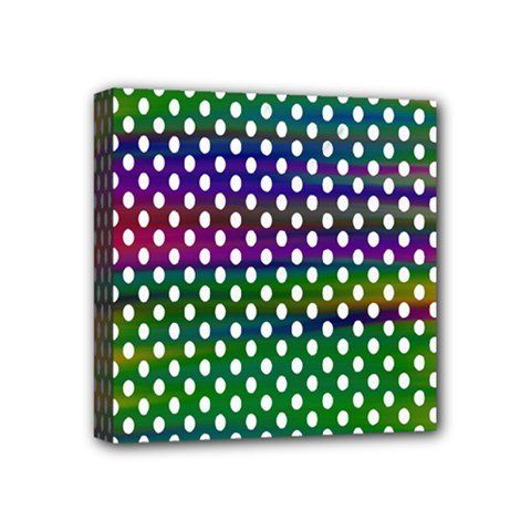 Digital Polka Dots Patterned Background Mini Canvas 4  X 4