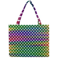 Digital Polka Dots Patterned Background Mini Tote Bag by Nexatart