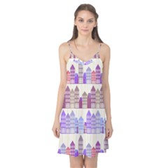 Houses City Pattern Camis Nightgown