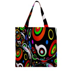 Background Balls Circles Zipper Grocery Tote Bag by Nexatart