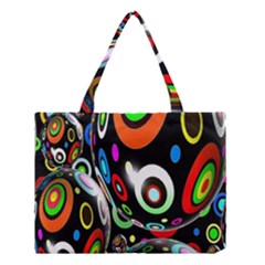 Background Balls Circles Medium Tote Bag by Nexatart