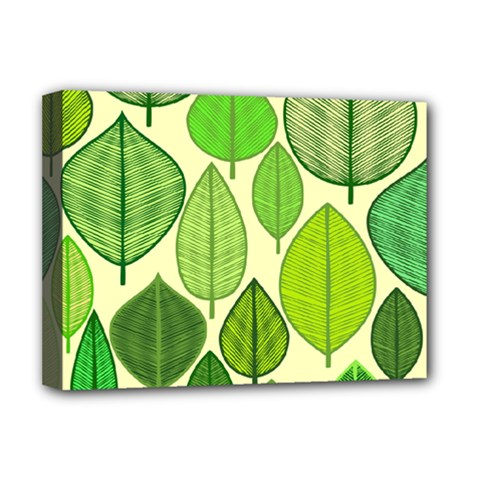 Leaves Pattern Design Deluxe Canvas 16  X 12   by TastefulDesigns