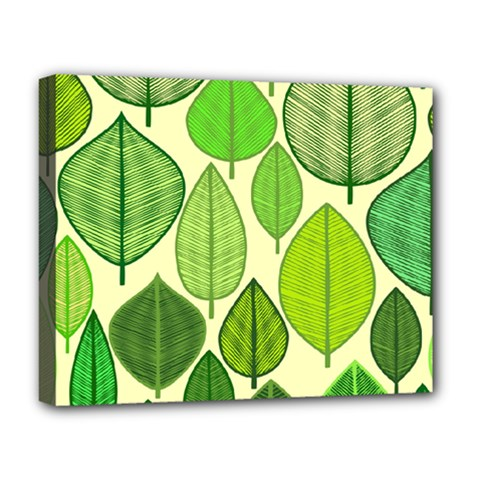 Leaves Pattern Design Deluxe Canvas 20  X 16   by TastefulDesigns