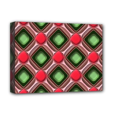 Gem Texture A Completely Seamless Tile Able Background Design Deluxe Canvas 16  X 12   by Nexatart
