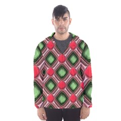 Gem Texture A Completely Seamless Tile Able Background Design Hooded Wind Breaker (men) by Nexatart