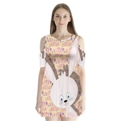 Easter Bunny  Shoulder Cutout Velvet  One Piece by Valentinaart