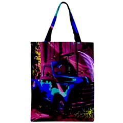 Abstract Artwork Of A Old Truck Zipper Classic Tote Bag by Nexatart