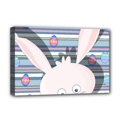 Easter Bunny  Deluxe Canvas 18  X 12   by Valentinaart