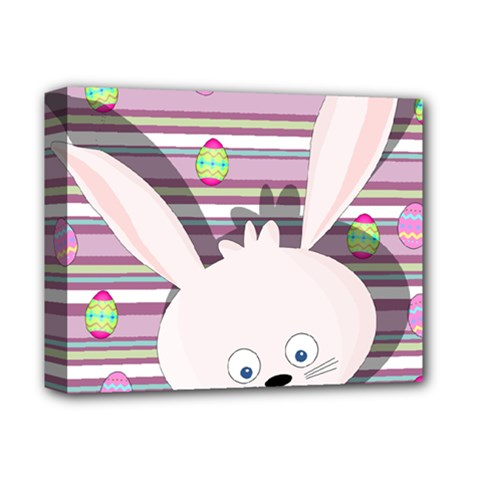 Easter Bunny  Deluxe Canvas 14  X 11  by Valentinaart