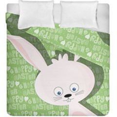 Easter Bunny  Duvet Cover Double Side (king Size) by Valentinaart