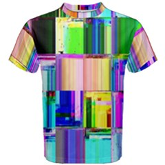 Glitch Art Abstract Men s Cotton Tee